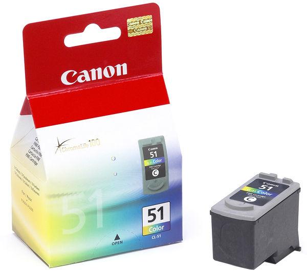 Canon 0618B001 Color Inkjet Cartridge (545 σελίδες) CL-51