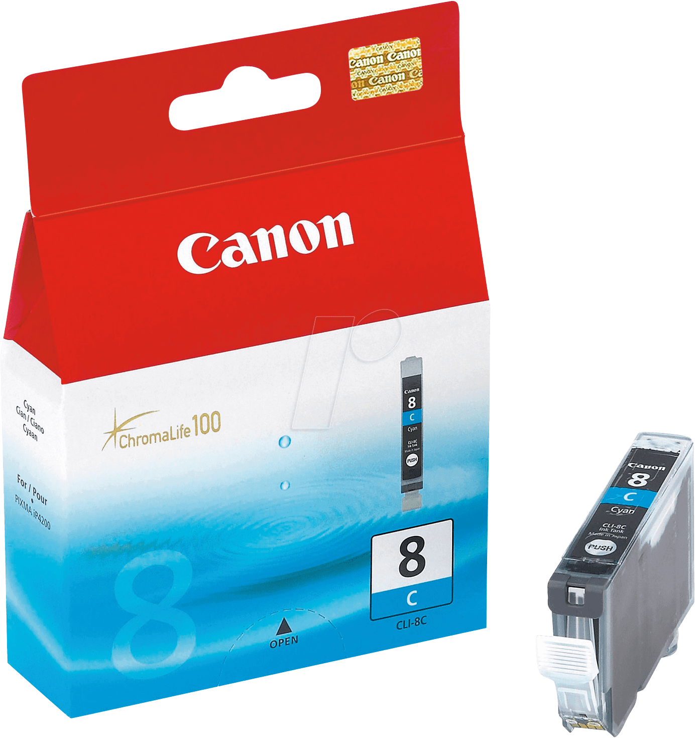 Canon 0621B001 Cyan Inkjet Cartridge (400 σελίδες) CLI-8