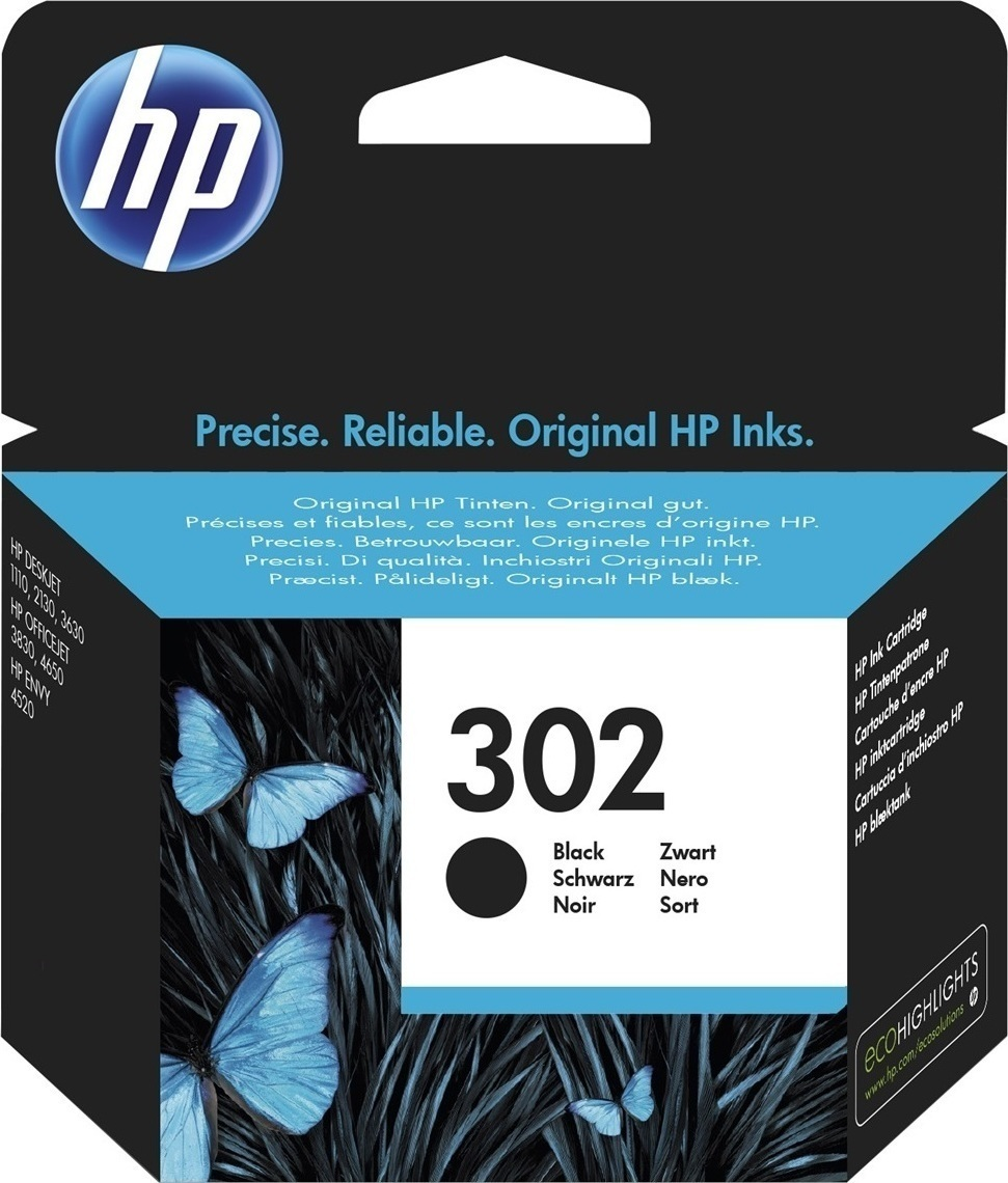 Hp F6U66AE Black  Inkjet Cartridge  302