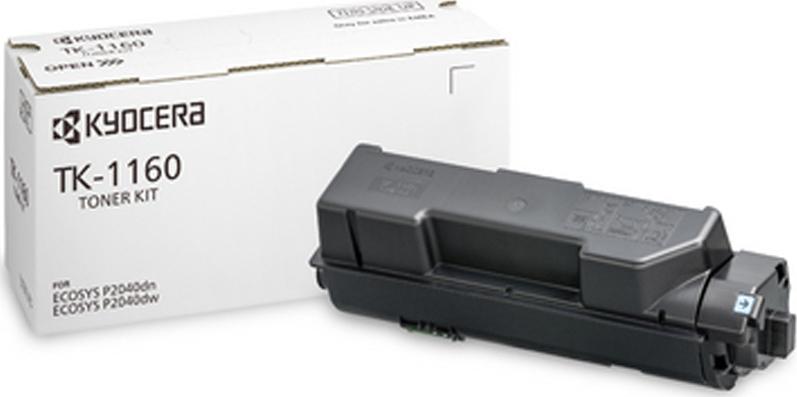 Kyocera TK-1160/1T02RY0NLO Black  Laser Toner  TK-1160