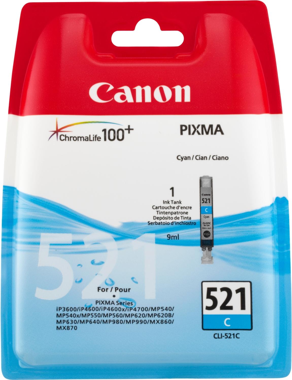 Canon 2934B001 Cyan Inkjet Cartridge  CLI-521