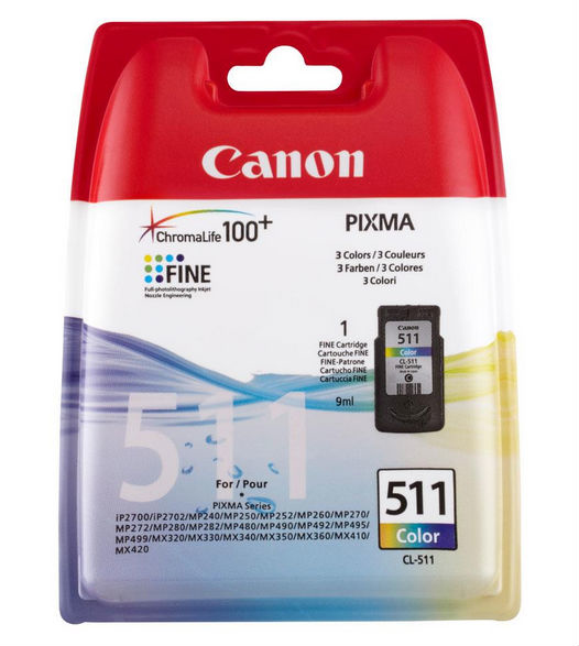 Canon 2972B001 Color Inkjet Cartridge (240 σελίδες) CL-511
