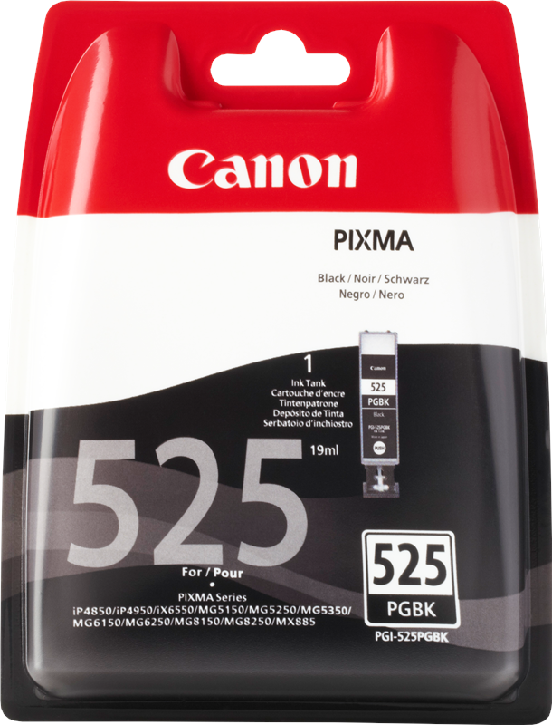 Canon 4529B001 Black  Inkjet Cartridge (330 σελίδες) PGI-525