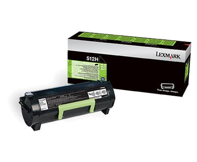 Lexmark 51F2H00 Black  Laser Toner  512HE