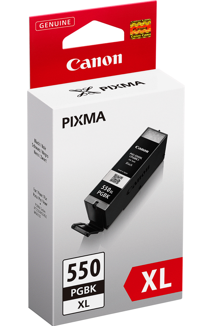 Canon 6431B001 Black  Inkjet Cartridge (500 σελίδες) PGI-550XL
