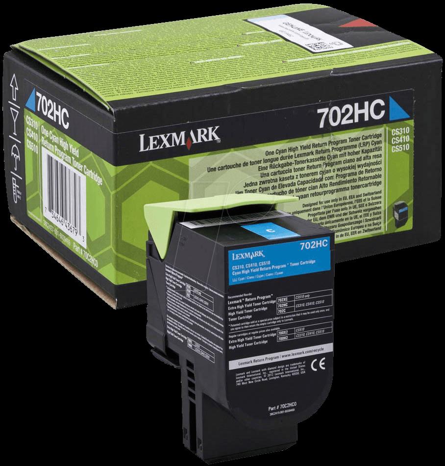 Lexmark 70C2HC0 Cyan Laser Toner  702HC