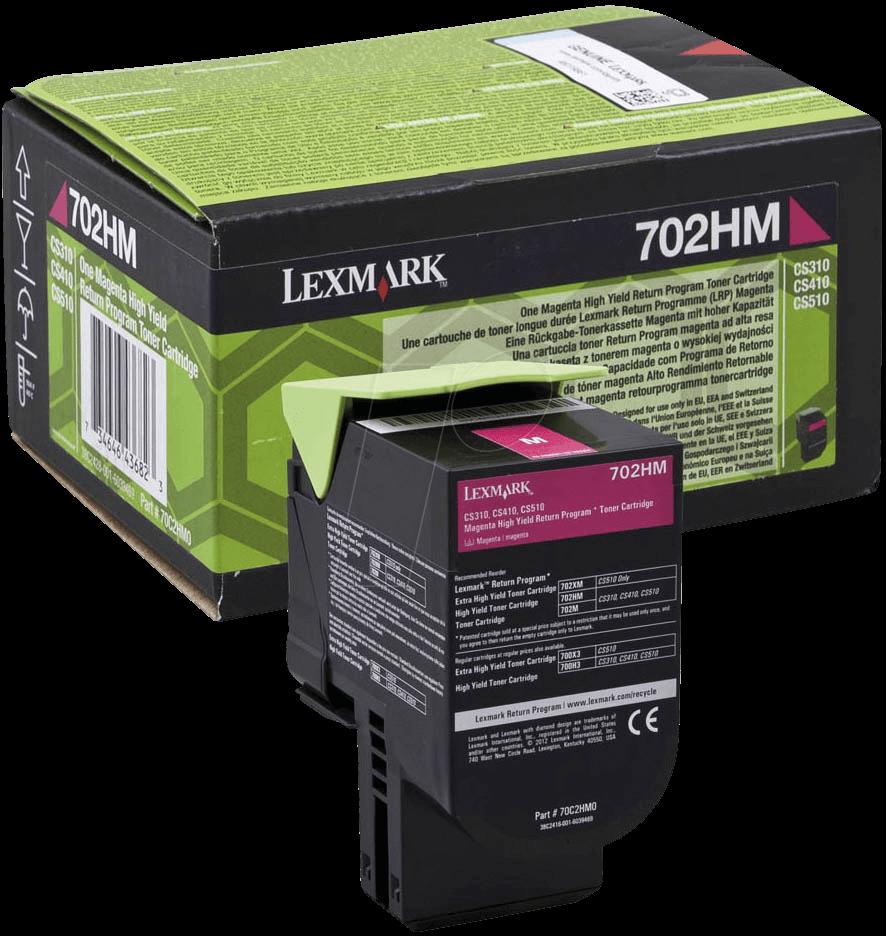 Lexmark 70C2HM0 Magenta Laser Toner  702HM