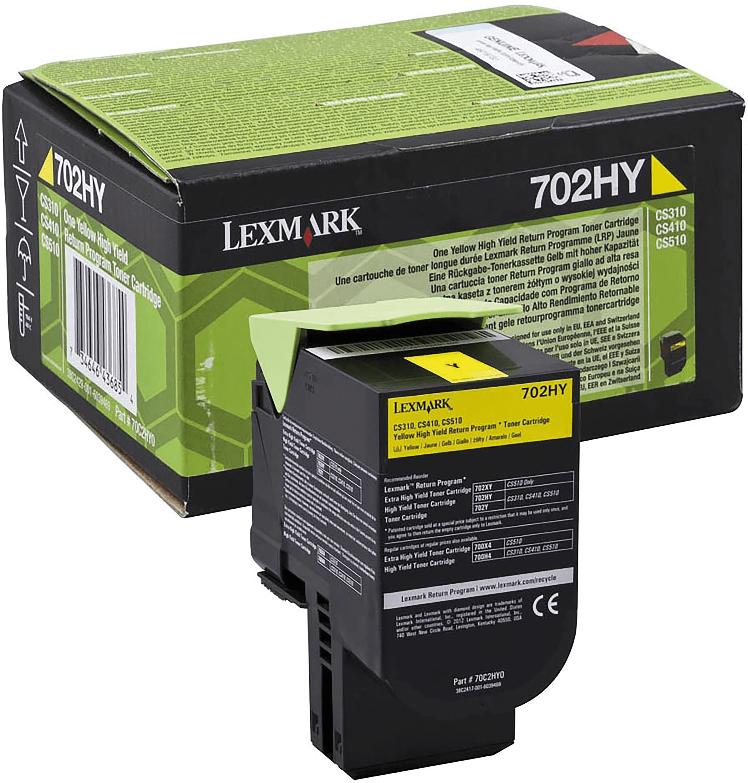 Lexmark 70C2HY0 Yellow Laser Toner  702HY