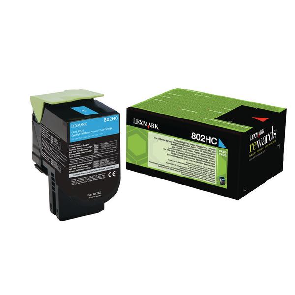Lexmark 80C2HC0 Cyan Laser Toner (3000 σελίδες) 802HC
