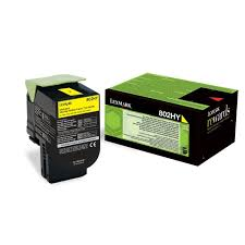 Lexmark 80C2HY0 Yellow Laser Toner (3000 σελίδες) 802HY