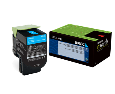 Lexmark 80C2SC0 Cyan Laser Toner (2000 σελίδες) 802SC