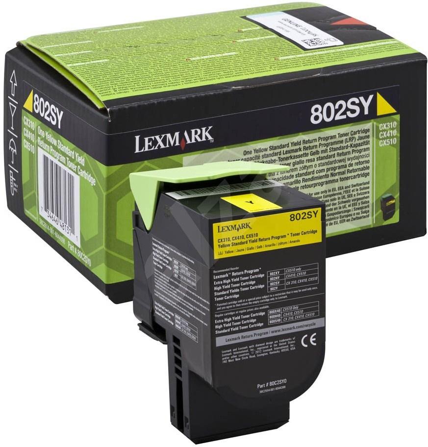 Lexmark 80C2SY0 Yellow Laser Toner (2000 σελίδες) 802SY