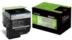 Lexmark 80C2XK0 Black  Laser Toner  802XK