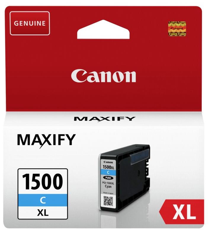 Canon 9193B001 Cyan Inkjet Cartridge  PGI-1500XL