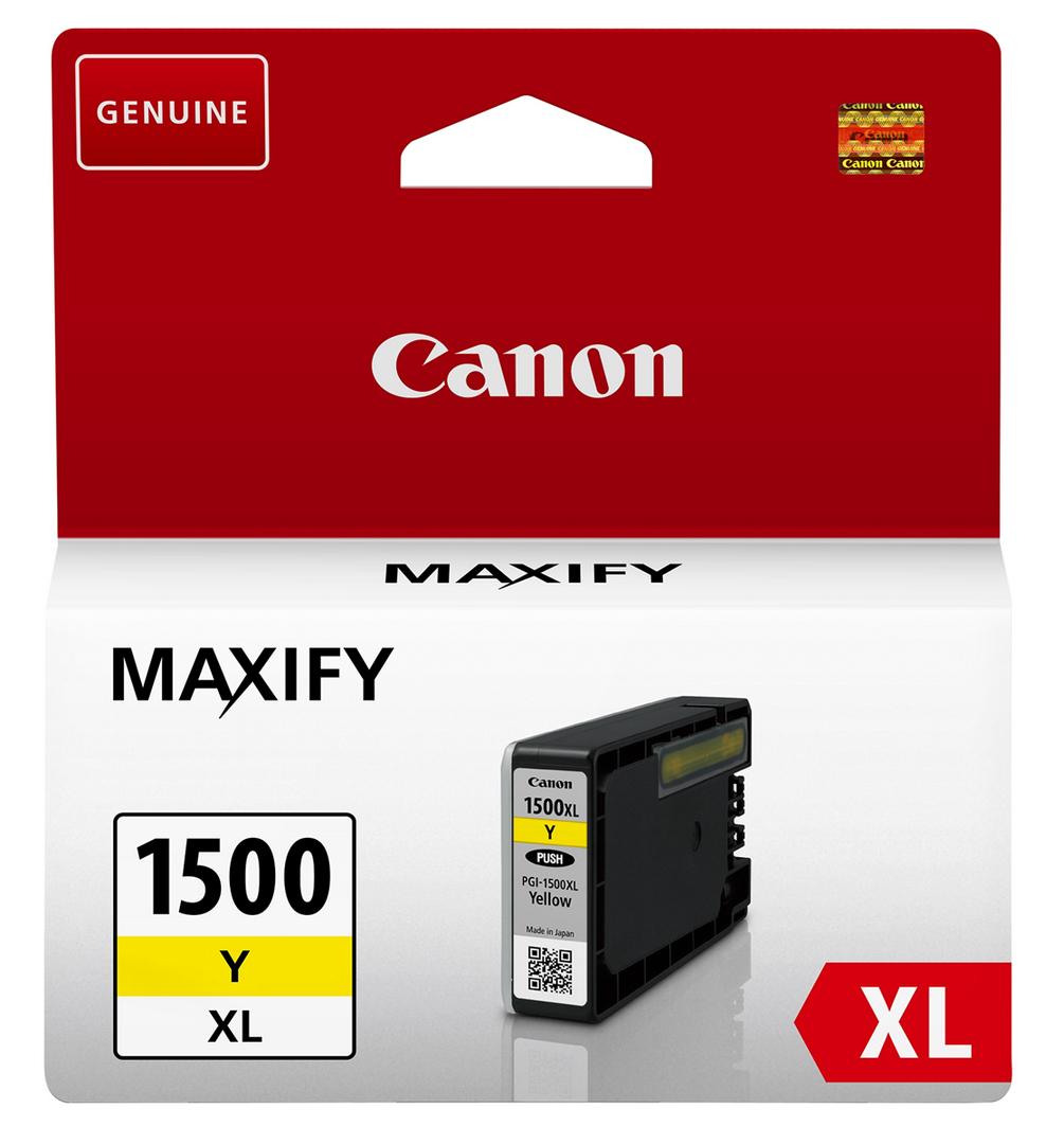 Canon 9195B001 Yellow Inkjet Cartridge  PGI-1500XL