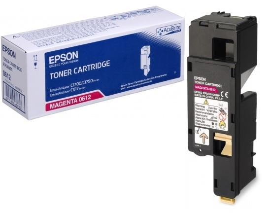 Epson C13S050612 Magenta Laser Toner (1400 σελίδες) C1700M