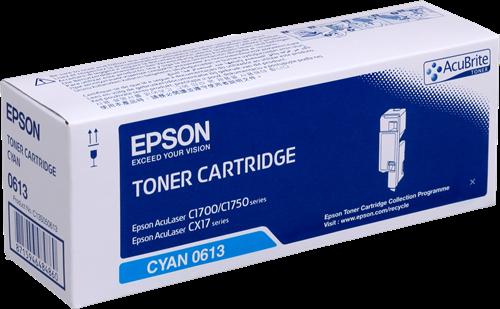 Epson C13S050613 Cyan Laser Toner (1400 σελίδες) C1700C