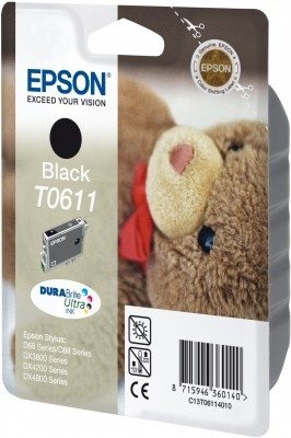 Epson C13T06114010 Black  Inkjet Cartridge (250 σελίδες) T0611