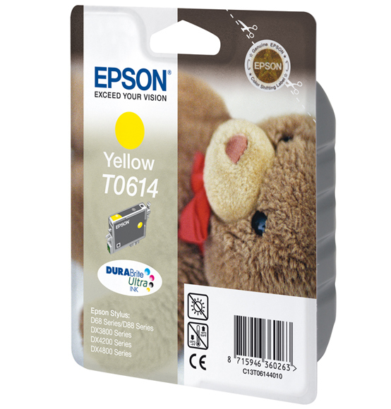 Epson C13T06144010 Yellow Inkjet Cartridge (250 σελίδες) T0614