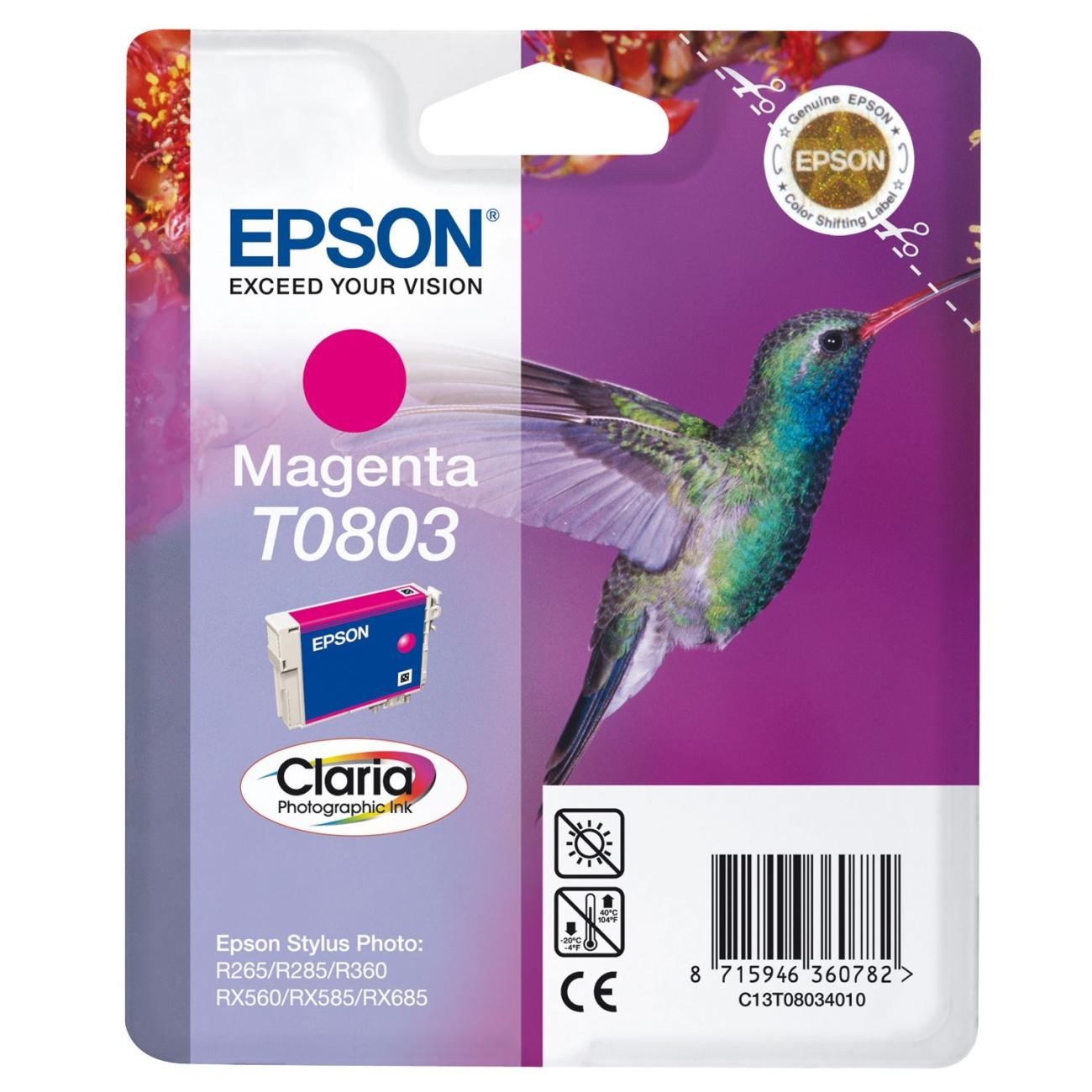 Epson C13T08034011 Magenta Inkjet Cartridge (900 σελίδες) T0803