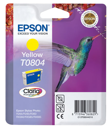 Epson C13T08044011 Yellow Inkjet Cartridge  T0804