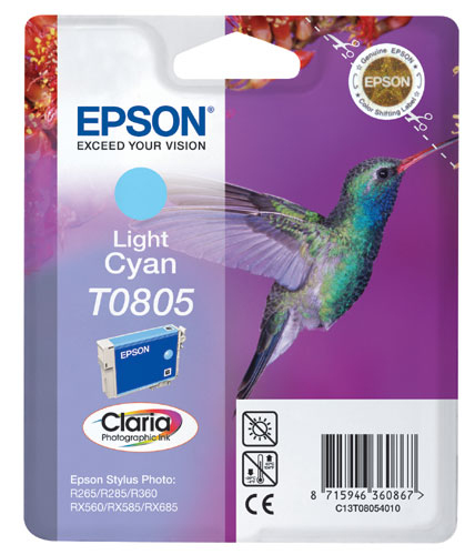 Epson C13T08054011 Light Cyan Inkjet Cartridge (410 σελίδες) T0805