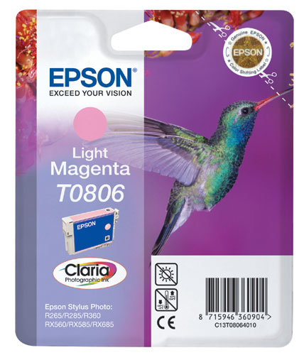 Epson C13T08064011 Light Magenta Inkjet Cartridge (410 σελίδες) T0806