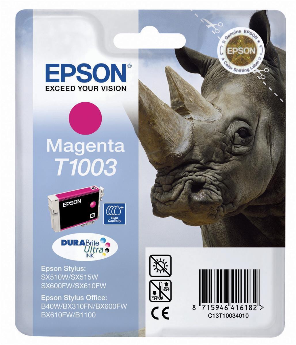 Epson C13T10034010 Magenta Inkjet Cartridge (800 σελίδες) T01003