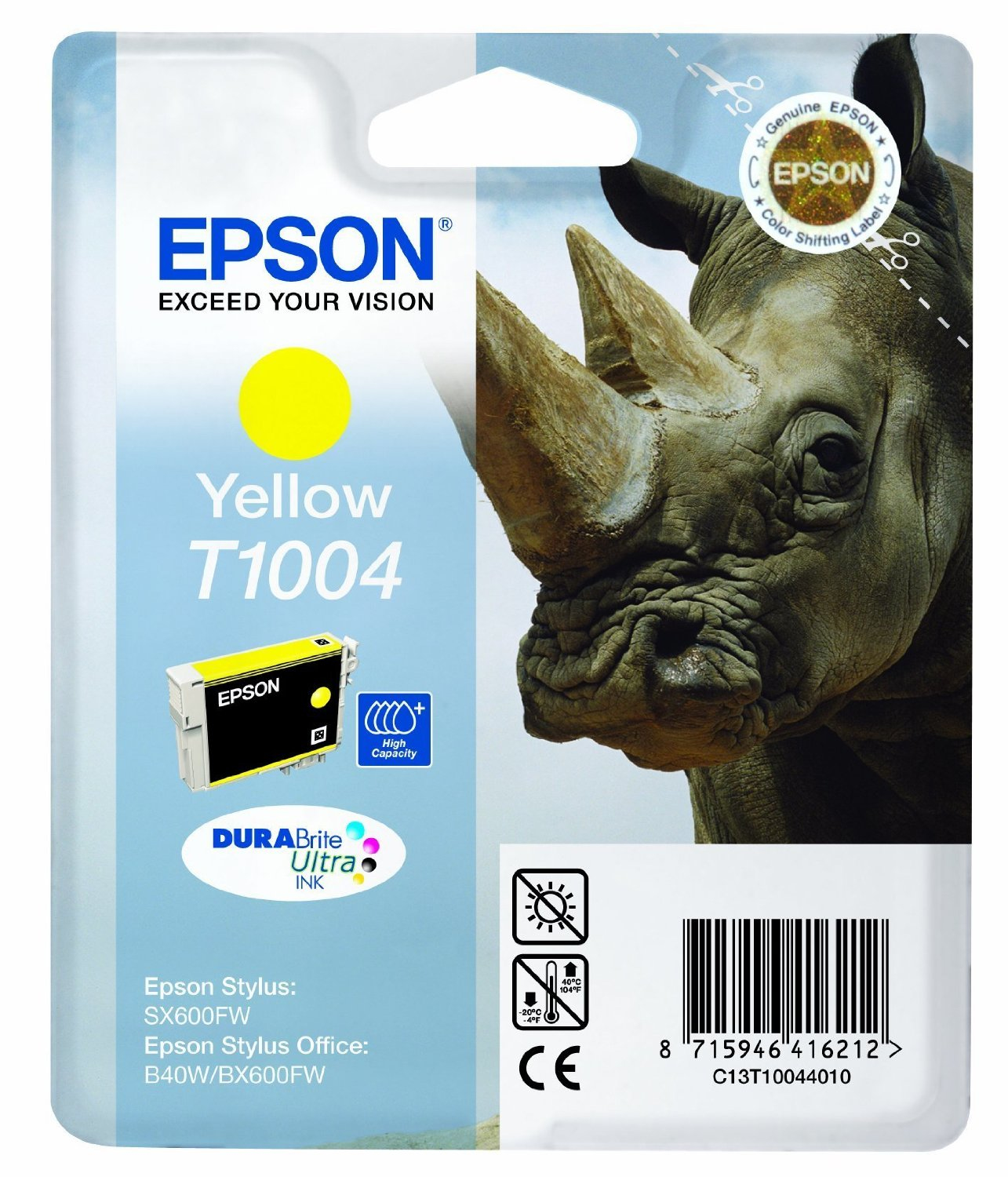 Epson C13T10044010 Yellow Inkjet Cartridge (800 σελίδες) T01004