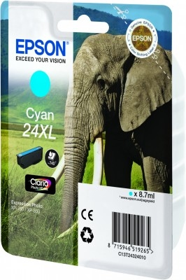 Epson C13T24324010 Cyan Inkjet Cartridge  T02432