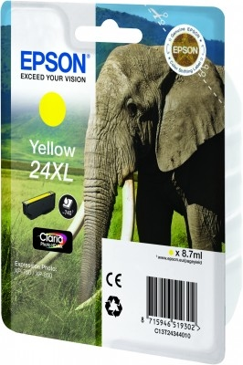 Epson C13T24344010 Yellow Inkjet Cartridge  T02434