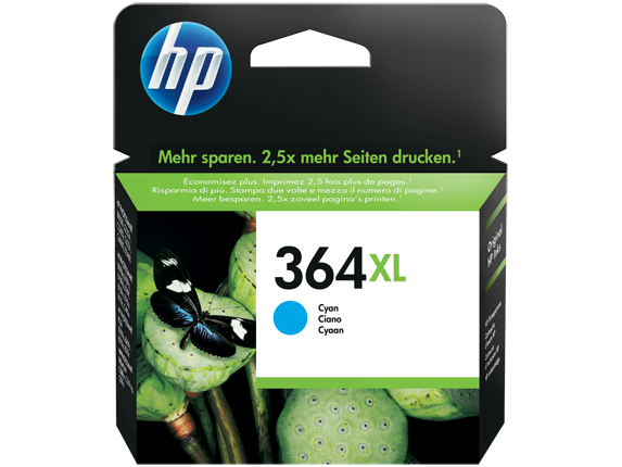 Hp CB323EE Cyan Inkjet Cartridge (750 σελίδες) 364XL CYAN