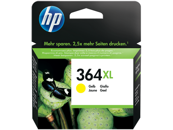 Hp CB325EE Yellow Inkjet Cartridge (750 σελίδες) 364XL