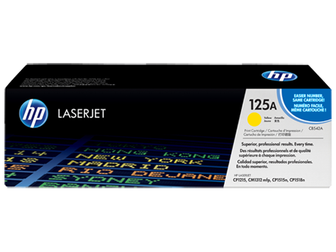 Hp CB542A Yellow Laser Toner (1400 σελίδες) 125A