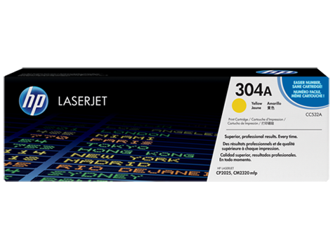 Hp CC532A Yellow Laser Toner (2800 σελίδες) 304A