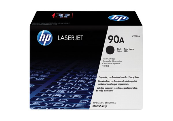 Hp CE390A Black  Laser Toner  90A