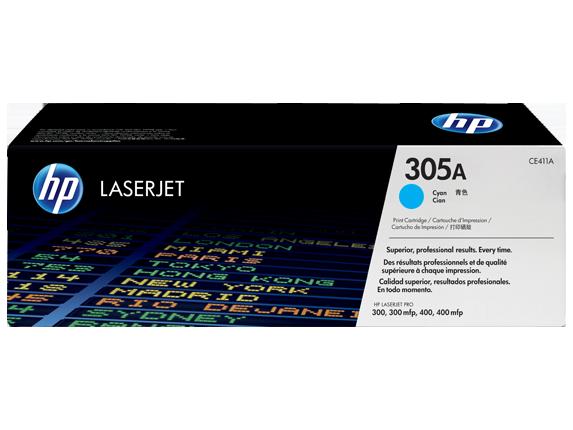 Hp CE411A Cyan Laser Toner (2600 σελίδες) 305A