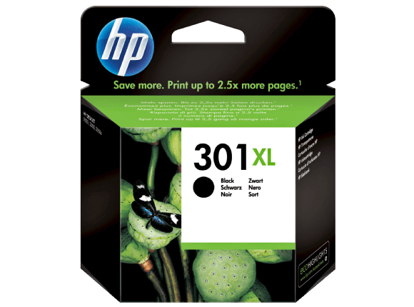 Hp CH563EE Black  Inkjet Cartridge (480 σελίδες) 301XL