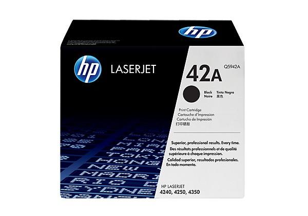 Hp Q5942A Black  Laser Toner  42A