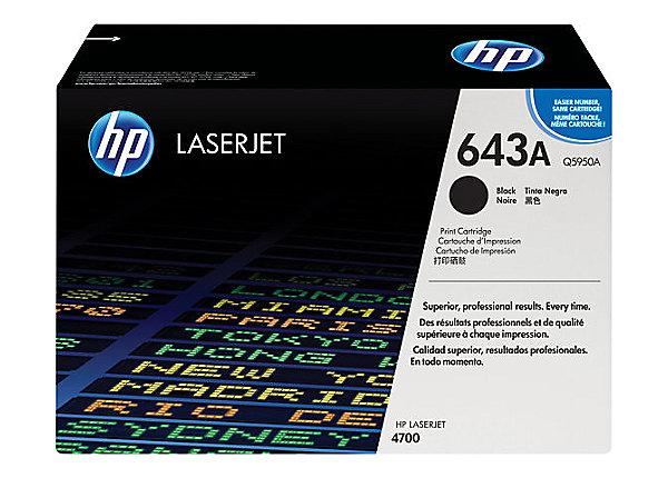 Hp Q5950A Black  Laser Toner  643A