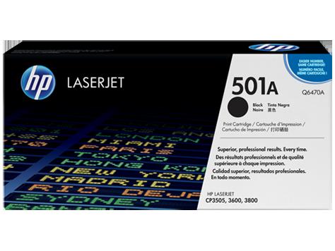 Hp Q6470A Black  Laser Toner  501A