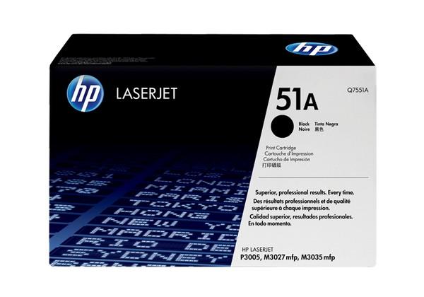 Hp Q7551A Black  Laser Toner (6000 σελίδες) 51A