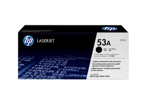 Hp Q7553A Black  Laser Toner  53A