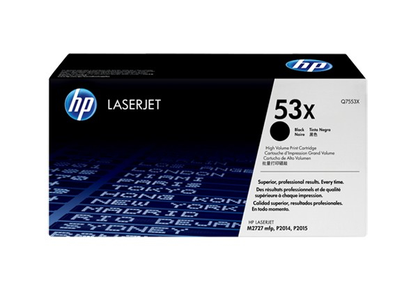 Hp Q7553X Black  Laser Toner  53X