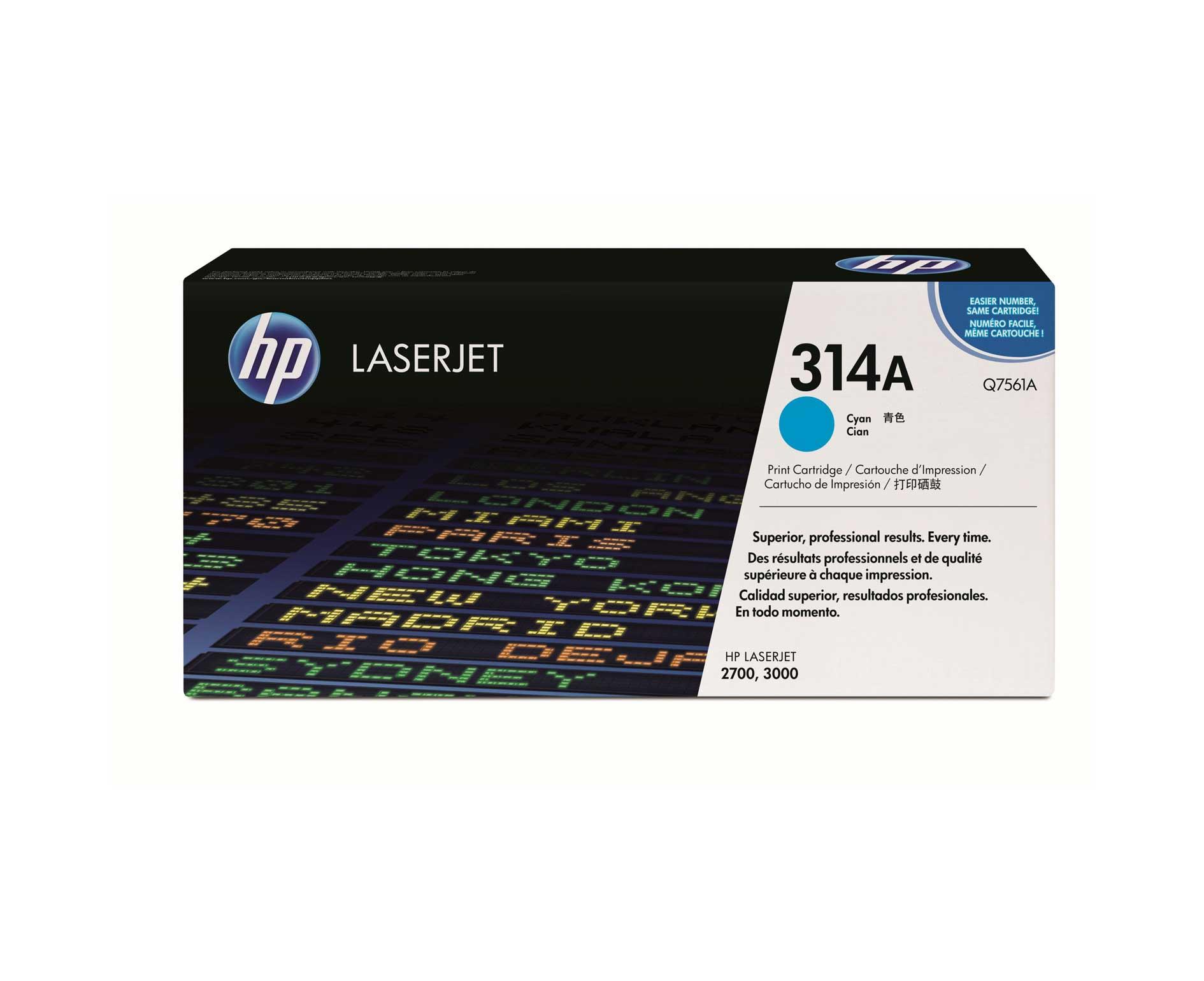 Hp Q7561A Cyan Laser Toner (3500 σελίδες) 314A