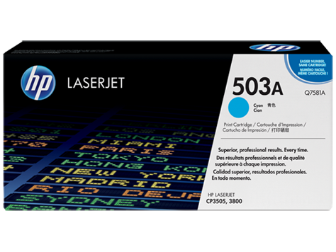 Hp Q7581A Cyan Laser Toner (6000 σελίδες) 503A