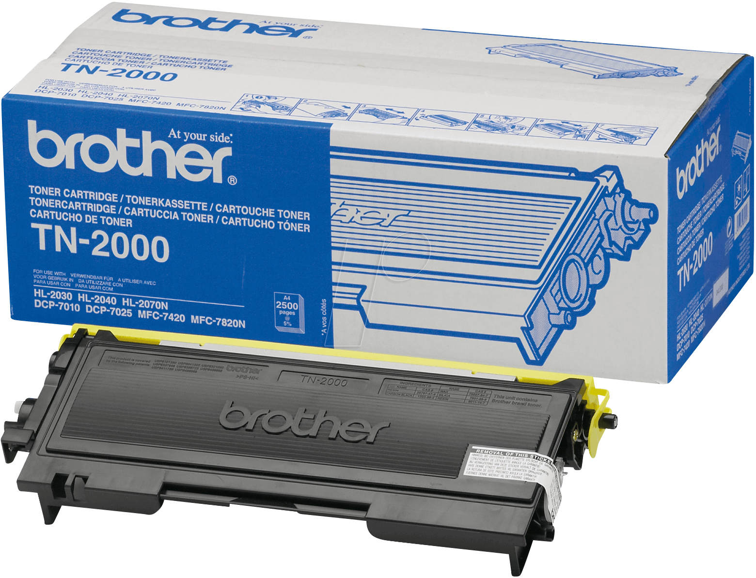 Brother TN-2000 Black  Laser Toner (2500 σελίδες) TN-2000