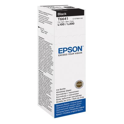 Epson C13T664140 Black  Inkjet Cartridge  6641