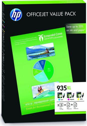 Hp F6U78AE  Inkjet Cartridge  HP 935XL CMY Value Pack