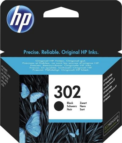 Hp F6U66AE Black  Inkjet Cartridge  302